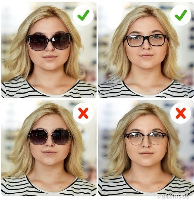 0012e0ac83b36b Votre tâche est d allonger visuellement votre visage, alors choisissez des  lunettes avec des cadres sombres. Ils affinent le visage et rapprochent ses  ...
